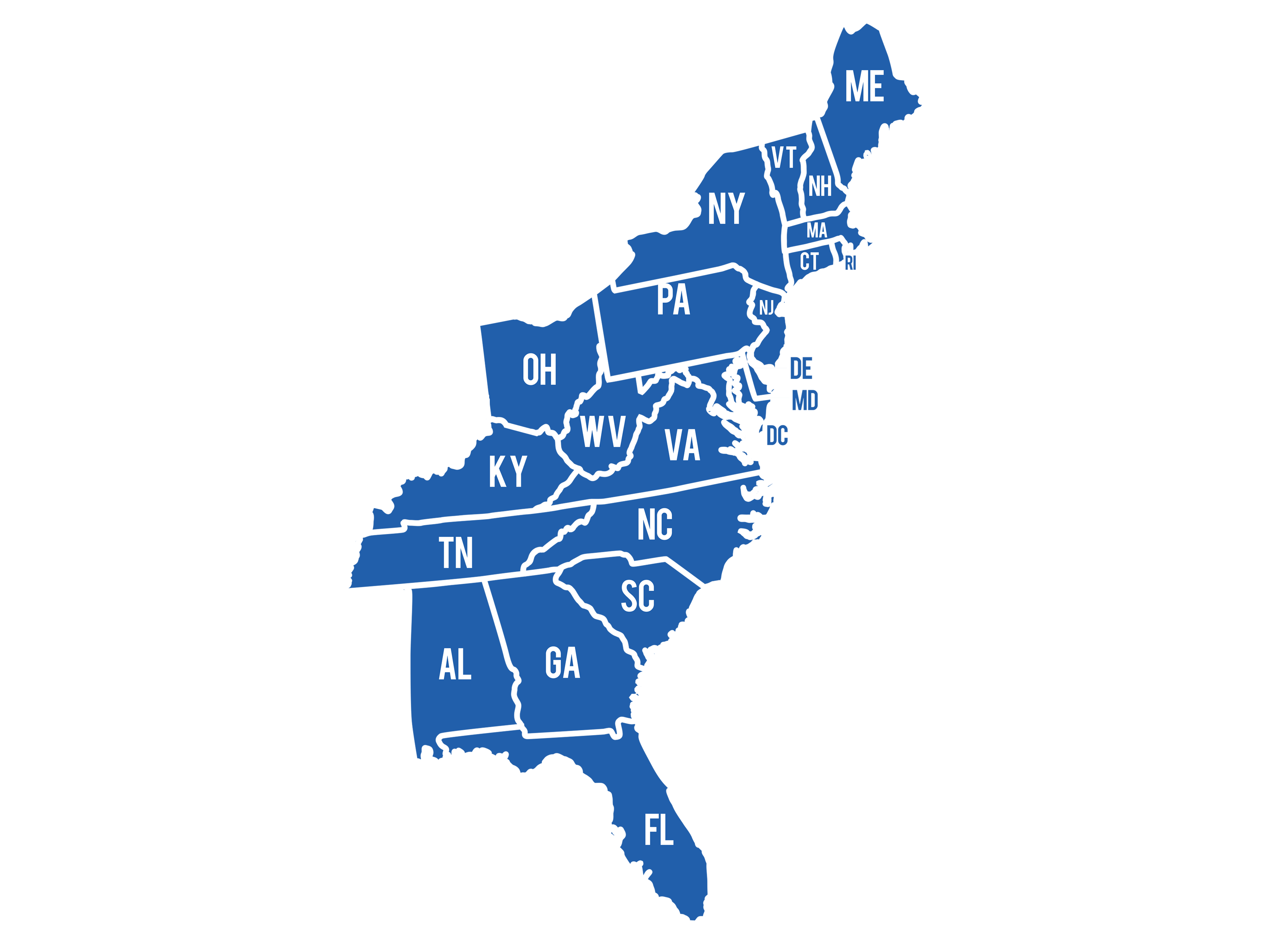 movers in new hampshire moving on the eastern seaboard